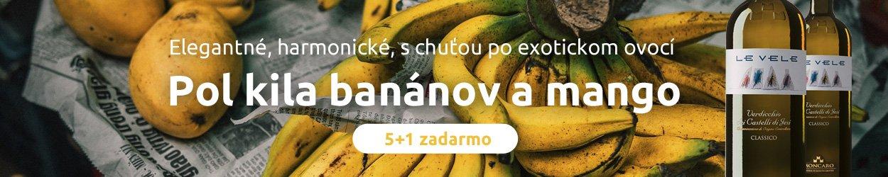 Pol kila banánov a mango 5+1 zadarmo