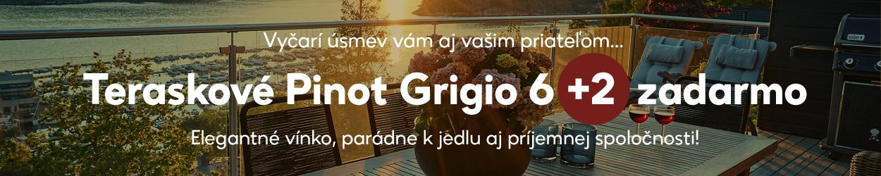 Teraskové Pinot Grigio 6+2 zadarmo