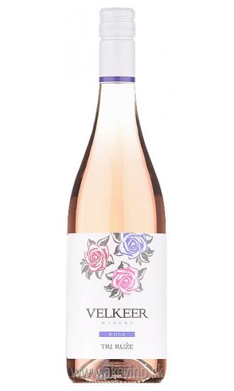 Velkeer Tri ruže rosé 2018 akostné značkové polosuché