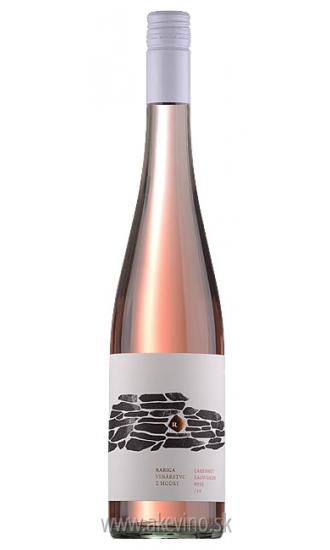Víno Rariga Cabernet Sauvignon rosé 2016 akostné odrodové polosuché