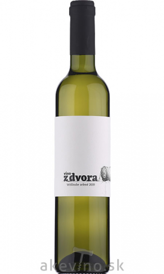 Víno z dvora Veltlínske zelené 2019 sladké 0.5L