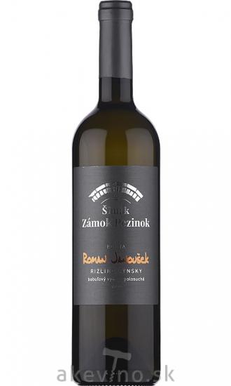 Zámocké vinárstvo Šimák Pezinok Edícia Roman Janoušek Rizling rýnsky 2019 bobuľový výber polosuché