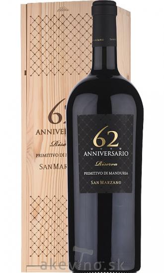 Cantine San Marzano Anniversario 62 Primitivo di Manduria DOP 2016 Magnum 1.5L