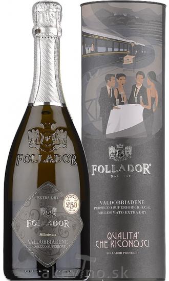Follador Prosecco Superiore DOCG extra dry v darčekovom tubuse