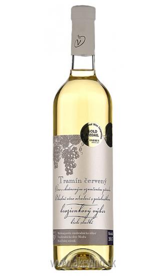 Víno Dudo Tramín červený 2017 hrozienkový výber sladké