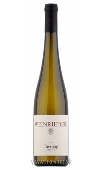 Weinrieder Riesling Reserve 2015