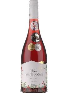Miluron Brusnicové víno polosladké