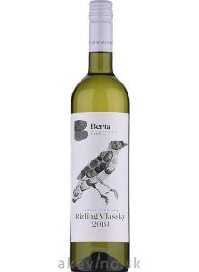 Vinárstvo Berta Rizling vlašský Single Vineyard 2019 akostné odrodové