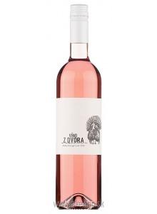 Víno z dvora Modrý Portugal rosé 2018 polosladké