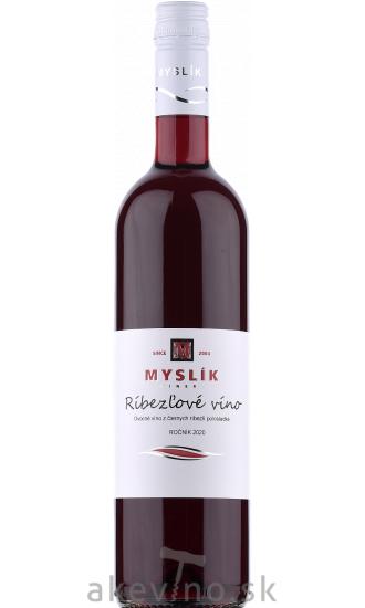 Myslík Winery Ríbezľové víno polosladké