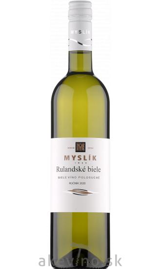 Myslík Winery Rulandské biele 2020 polosuché