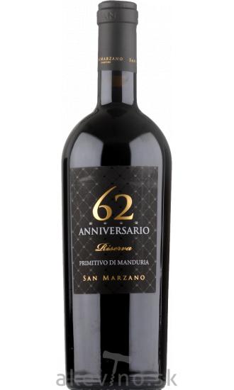 Cantine San Marzano Anniversario 62 Primitivo di Manduria DOP 2017