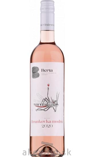 Vinárstvo Berta Frankovka modrá rosé 2020 akostné odrodové