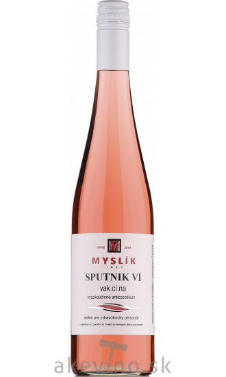 Myslík Winery Sputnik VI Frizzante rosé 2020 polosladké
